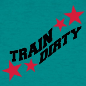 Text healthy train logo stamp weights spoof cool d T-Shirts - Men's T-Shirt