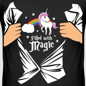 Einhorn - Filled with Magic T-Shirts - Men's Slim Fit T-Shirt
