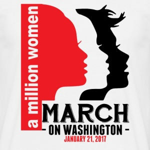 A Million Women March On Washington January 21, 2 T-Shirts - Men's T-Shirt