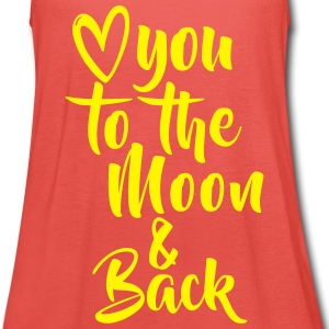 LOVE YOU TO THE MOON Tops - Women's Tank Top by Bella