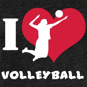I Love Volleyball T Shirt T-Shirts - Frauen Premium T-Shirt