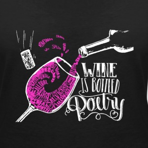 wine T-Shirts - Women's V-Neck T-Shirt