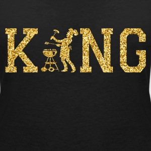 Chef King T-Shirts - Women's V-Neck T-Shirt