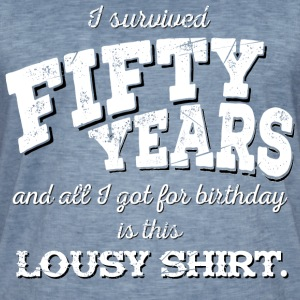 Lousy Shirt 50th Birthday - white - Men's Vintage T-Shirt