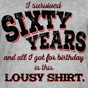 Lousy Shirt 60th Birthday - black - Men's Vintage T-Shirt