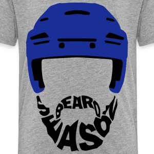 Ice Hockey Beard Season Shirts - Teenage Premium T-Shirt