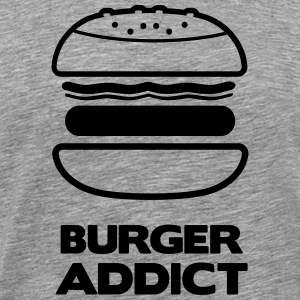 BURGER ADDICT - Herre premium T-shirt