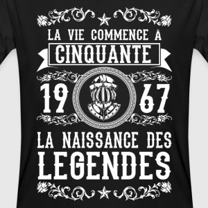 1967 - 50 ans - Légendes - 2017 Tee shirts - T-shirt bio Homme