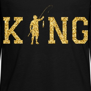 Fishing King Long Sleeve Shirts - Teenagers' Premium Longsleeve Shirt