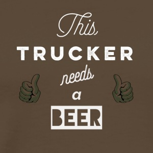 This_Trucker_needs_a_beer_T-Shirt & Hoody - Männer Premium T-Shirt