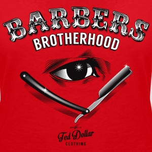Barbers Brotherhood  Tee shirts - T-shirt col V Femme