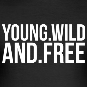 YOUNG AND FREE T-Shirts - Männer Slim Fit T-Shirt