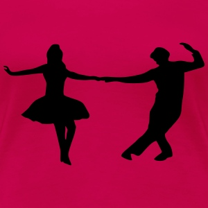 dancing couple T-shirts - Dame premium T-shirt