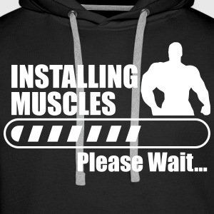 Installing muscles,gym,bodybuilding,fitness - Men's Premium Hoodie