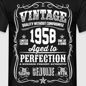 1958 Aged to Perfection White print - Men's T-Shirt