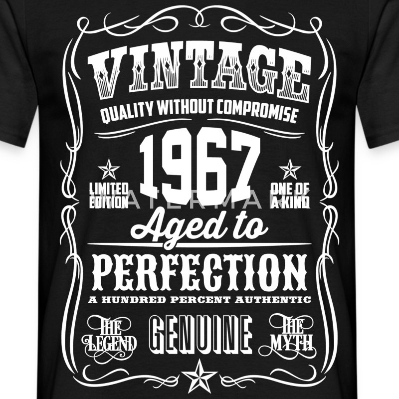 1967 Aged to Perfection White print - Men's T-Shirt