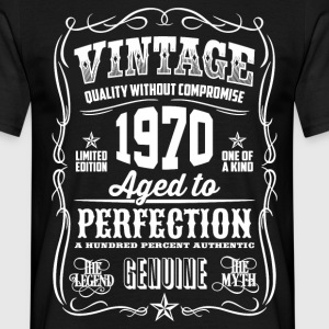 1970 Aged to Perfection White print - Camiseta hombre
