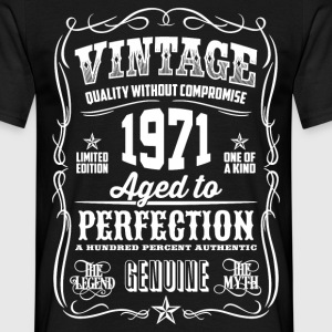1971 Aged to Perfection White print - Men's T-Shirt