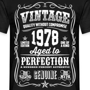 1978 Aged to Perfection White print - Men's T-Shirt