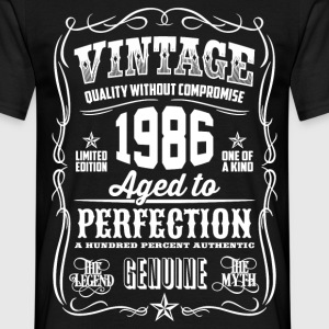 1986 Aged to Perfection White print - Men's T-Shirt