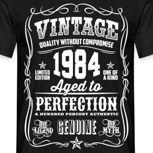 1984 Aged To Perfection pink Printed - Men's T-Shirt