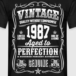 1987 Aged to Perfection White print - Men's T-Shirt