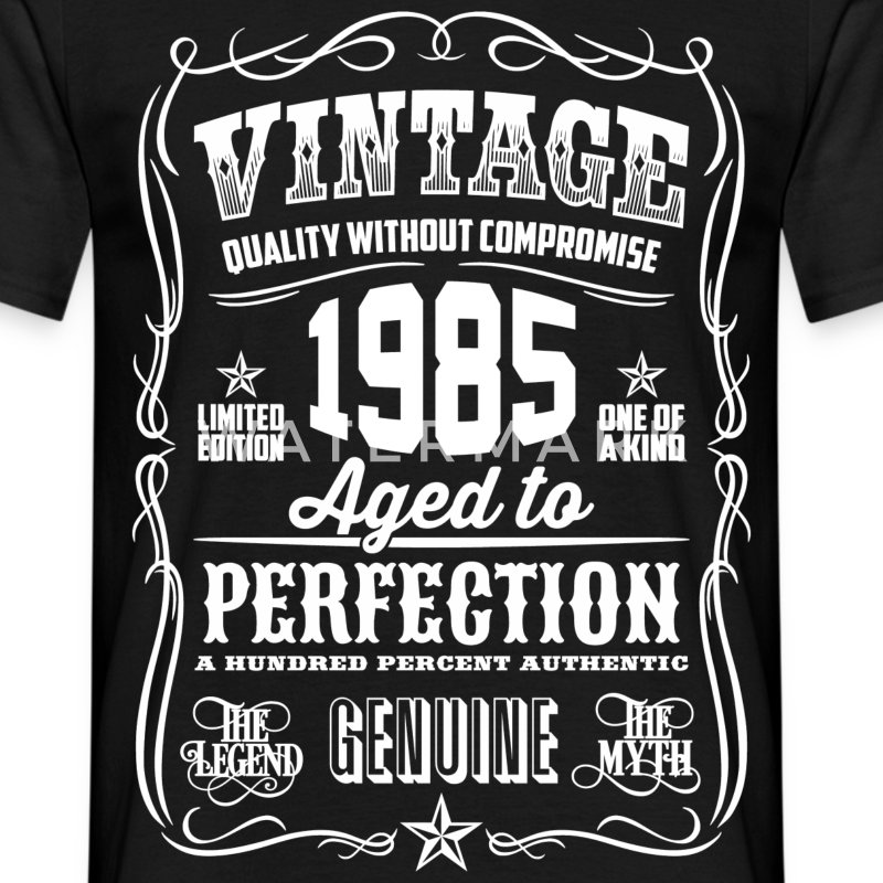 1985 Aged To Perfection pink Printed - Men's T-Shirt