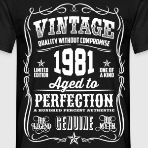 1981 Aged To Perfection pink Printed - Men's T-Shirt