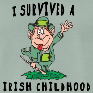 Irish I Survived A Irish Childhood - Men's Premium T-Shirt