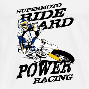 Supermoto Racing T-Shirts - Men's Premium T-Shirt