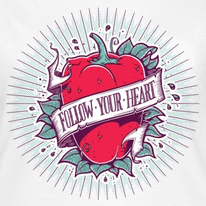 Blanc Follow Your Heart Tee shirts - T-shirt Femme