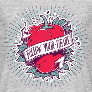 Grau meliert Follow Your Heart T-Shirts - Männer T-Shirt