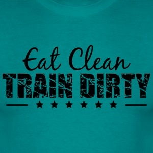 Healthy eating weight lifting dumbbell weights tra T-Shirts - Men's T-Shirt