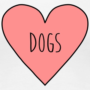 I love dogs heart, dog sports, pet, animal nature  - Women's Premium T-Shirt