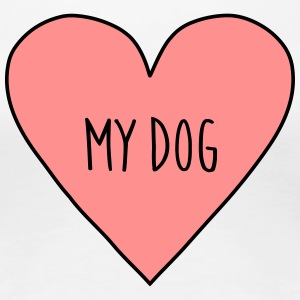 I love my dog, heart dogs sports, pet, cute, funny - Women's Premium T-Shirt
