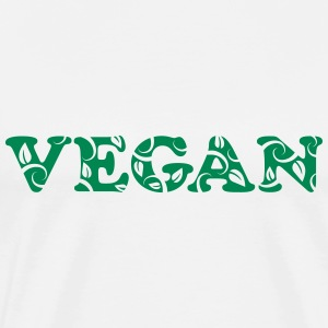 Vegan, vegetarian, power, text, nature, Healthy T-shirts - Herre premium T-shirt