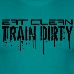 Eat clean blood graffiti stamp drop cool design tr T-Shirts - Men's T-Shirt