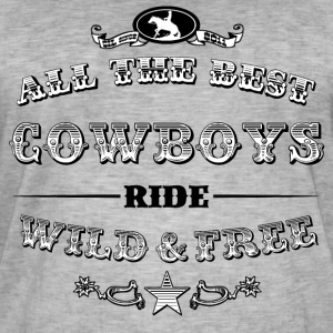 Cowboys Filled - Männer Vintage T-Shirt