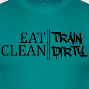Design eat clean train dirty text logo T-Shirts - Men's T-Shirt
