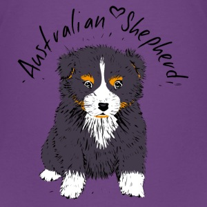 Australian Shepherd Welpe, Black tri Shirts - Teenager Premium T-shirt