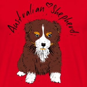 Australian Shepherd, red tri T-Shirts - Men's T-Shirt
