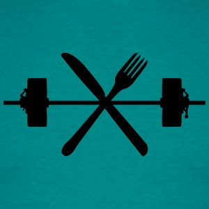 Cool cutlery design design weight weight lifting d T-Shirts - Men's T-Shirt