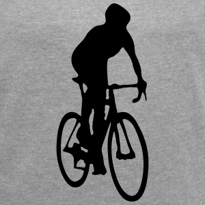 Cycling T-Shirts - Women's T-shirt with rolled up sleeves