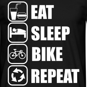 Eat,sleep,bike,repeat CICLISTA T-shirt - Maglietta da uomo