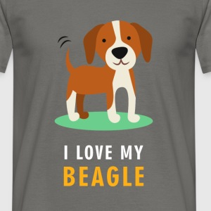 I love my beagle - Men's T-Shirt