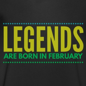 Legends are born february T-shirts - Mannen T-shirt met V-hals
