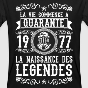 1977 - 40 ans - Légendes - 2017 Tee shirts - T-shirt bio Homme