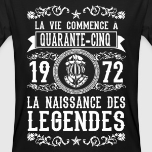 1972 - 45 ans - Légendes - 2017 Tee shirts - T-shirt bio Homme