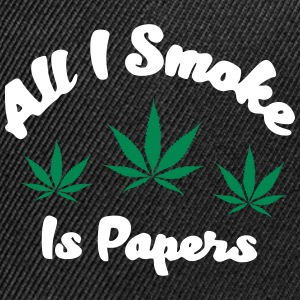 AIL I SMOKE IS PAPERS - Kontrast Snapback Cap