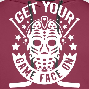 Get Your Game Face On (Ice Hockey) Hoodies & Sweatshirts - Men's Premium Hoodie